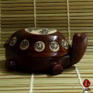 Chinese wooden turtle with a compus inside