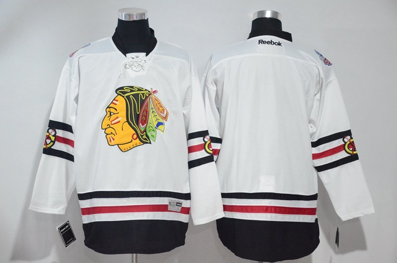 the best attitude 8ca0d b78f1 Men's Chicago Blackhawks Blank White 2017 Winter Classic Hockey Stitched  Jerseys