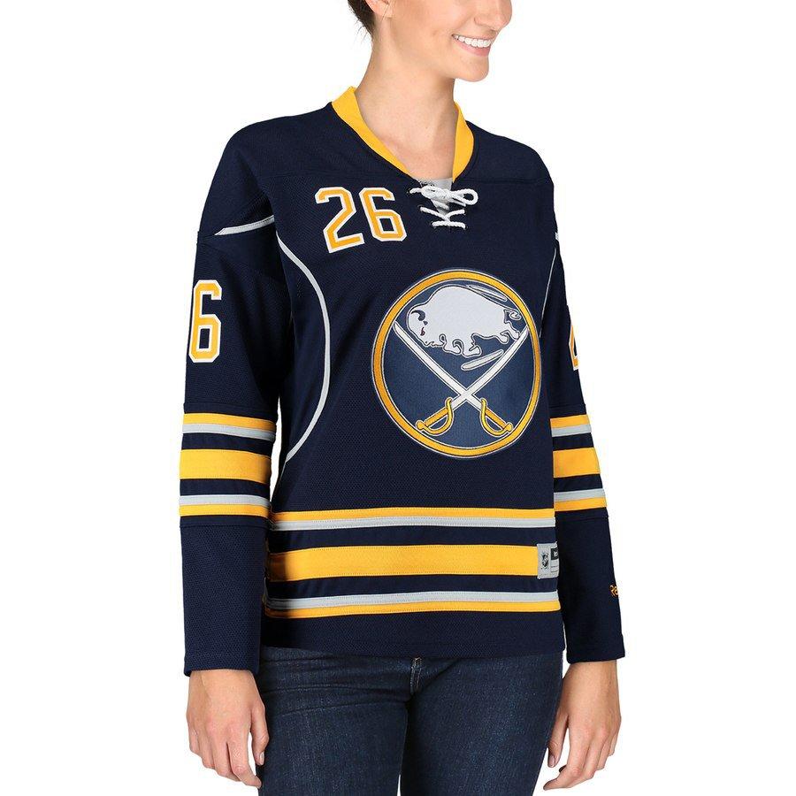 9251e545eb6 Reebok Matt Moulson Buffalo Sabres Women's Navy Premier Player Jersey