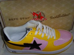 A Bathing Ape Shoe (Yellow/Pink/Black)