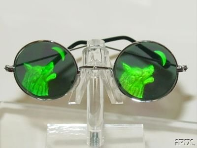 WOLF HEAD HOWLING AT MOON HOLOGRAM SUNGLASSES