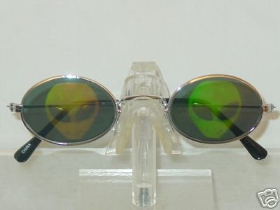 ALIEN HEAD OVAL FRAME TEXAS HOLDEM WSOP HOLOGRAM SUNGLASSES