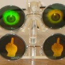 FREE US SHIPPING MIDDLE FINGER and EYEBALL POKER HOLOGRAM SUNGLASSES 3D FLIP OFF