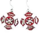 MALTESE CROSS EARTH SPIRIT DANGLE EARRINGS