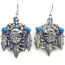 EAGLE HEAD DREAMCATCHER EARTH SPIRIT DANGLE EARRINGS