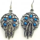 DREAMCATCHER AND FEATHERS EARTH SPIRIT DANGLE EARRINGS