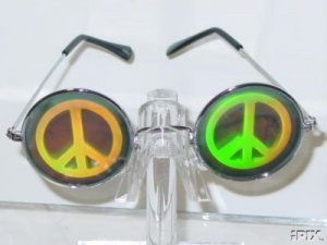 PEACE SIGN HOLOGRAM SUNGLASSES FREE US SHIPPING
