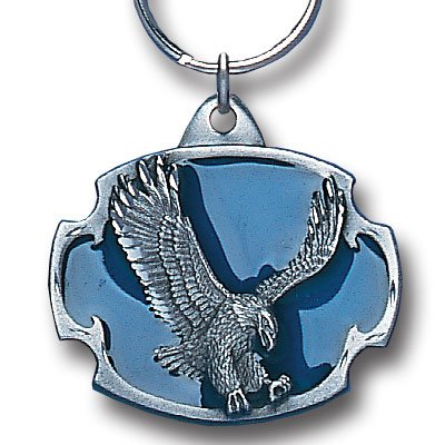 LANDING EAGLE SCULPTED ENAMELED KEY RING KEY CHAIN