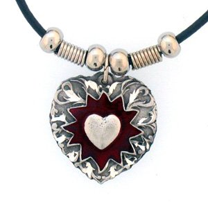 EXPLODING HEART EARTH SPIRIT NECKLACE