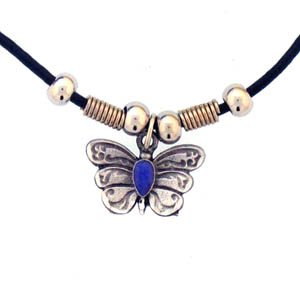 BUTTERFLY FREE FORM EARTH SPIRIT NECKLACE