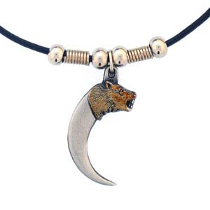 BEAR HEAD CLAW EARTH SPIRIT NECKLACE