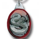 RATTLESNAKE SCULPTED ENAMELED KEY RING KEY CHAIN