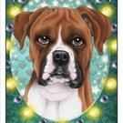 CRAZY ABOUT BOXERS! (UNCROPPED EARS) MAGNETIC 3D BOOKMARK