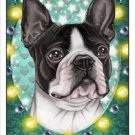CRAZY ABOUT BOSTON TERRIERS!  MAGNETIC 3D BOOKMARK