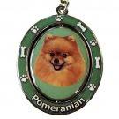 POMERANIAN SPINNING DOG KEY CHAIN