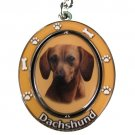 RED DACHSHUND SPINNING DOG KEY CHAIN