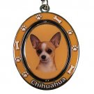 TAN CHIHUAHUA SPINNING DOG KEY CHAIN