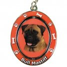 BULL MASTIFF SPINNING DOG KEY CHAIN