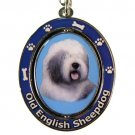 OLD ENGLISH SHEEPDOG SPINNING DOG KEY CHAIN