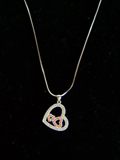 triple heart necklace