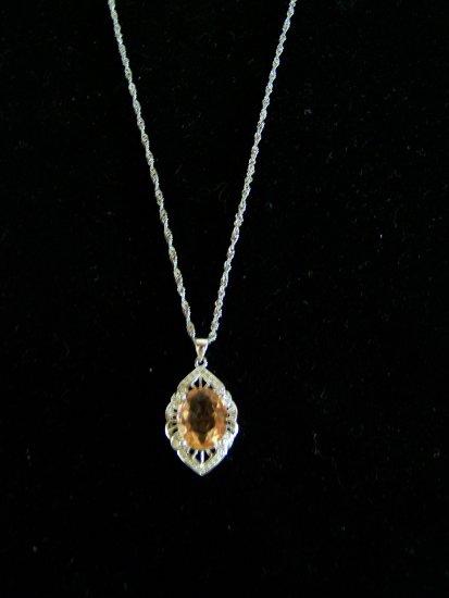 light orange stone necklace