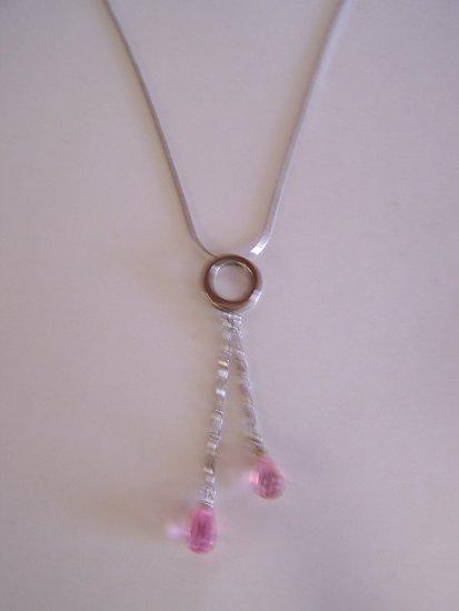pink raindrop necklace