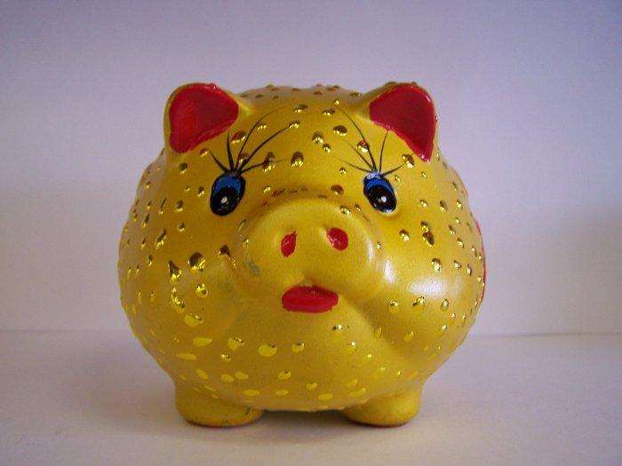 golden pig coin bank