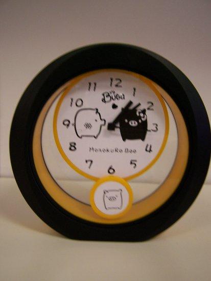 orange& black clock