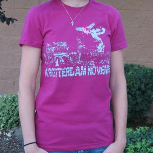 Cranberry w/City print - womens small