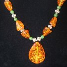 Amber and Jade Necklace