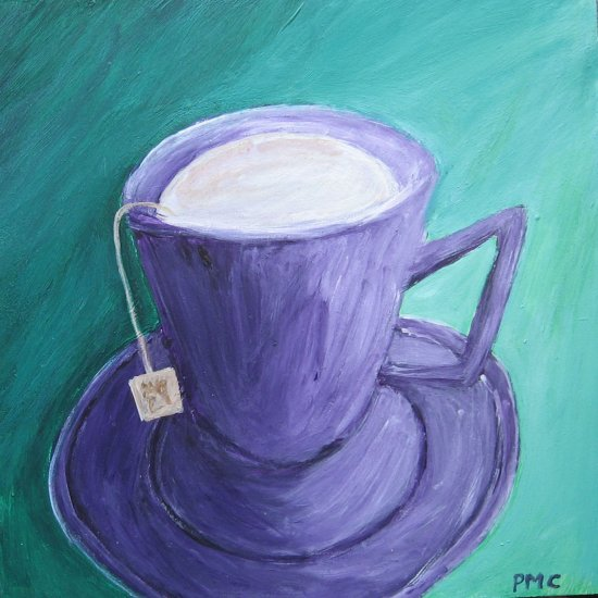 Tea with Cream Purple and Green Original