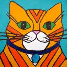 Yellow Tabby Striped Cat original