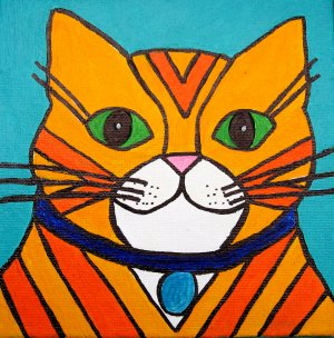 Yellow Tabby Striped Cat original
