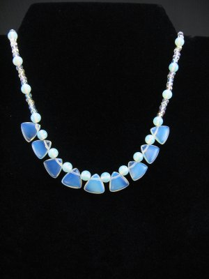 Stunning Opalite and Crystal Necklace