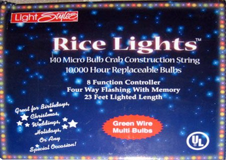 140 Micro LED Rice Lights 8-function controller