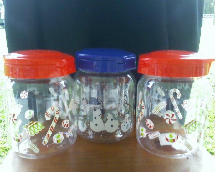 Plastic Christmas Jars