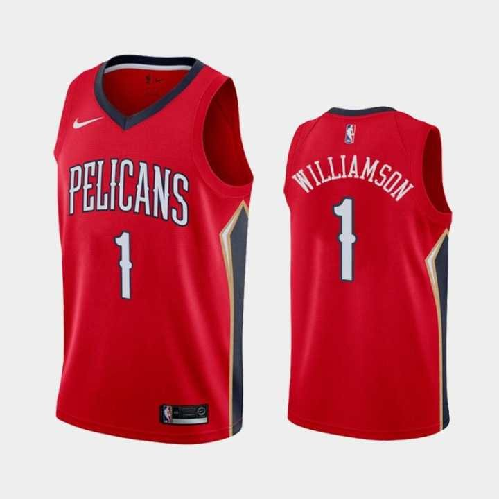timeless design 66536 eba01 Youth Zion Williamson Jersey #1 Orleans Pelicans Red Basketball 2019 new