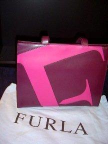 Furla - Purple/Pink Italian Leather Shoulder Bag