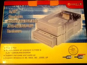 """3.5"""" HDD/5.25"""" Stackable DVD Enclosure"""