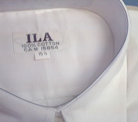 ILA White Shirt 100% Cotton long sleeve 15.5  15½ NEW in bag