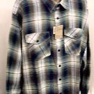 XXL casual Shirt Cotton long sleeve plaid  2X 18+ NWT new #1004