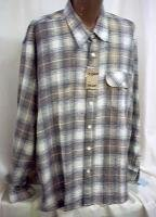 XXL Big Tall Cotton flannel long sleeve casual Shirt 2X 18+ NWT New #1000