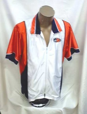 NIKE orange navy white Jacket Top womens Sm 4 6 Like new