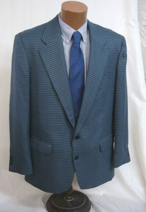 Blue grey Sport Coat Blazer Jacket 40 Reg NWT Utex Jones New York Perry Ellis Massimo