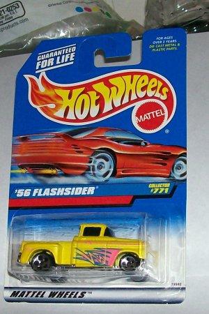 Hot Wheels '56 flashsider yellow #771 5dot wheels