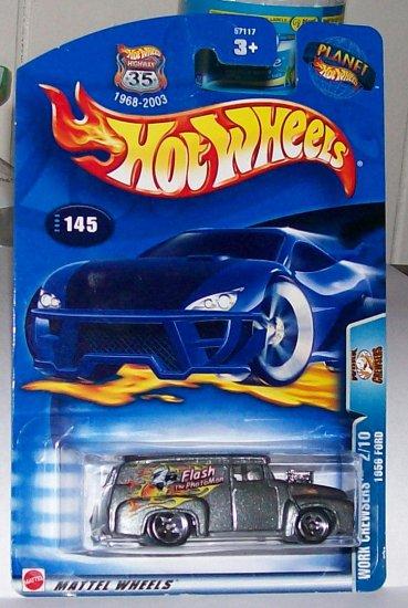 Hot Wheels 2003 1956 ford #145 mf grey orange flames