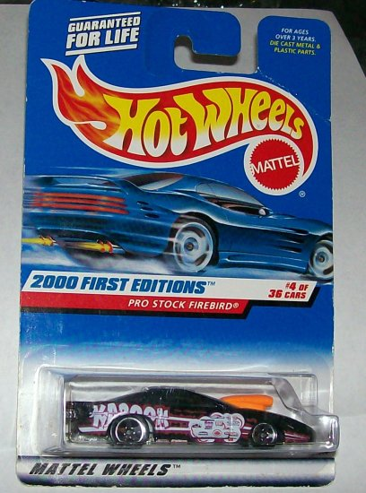 "Hot Wheels 2000 FE ""PRO STOCK FIREBIRD"""