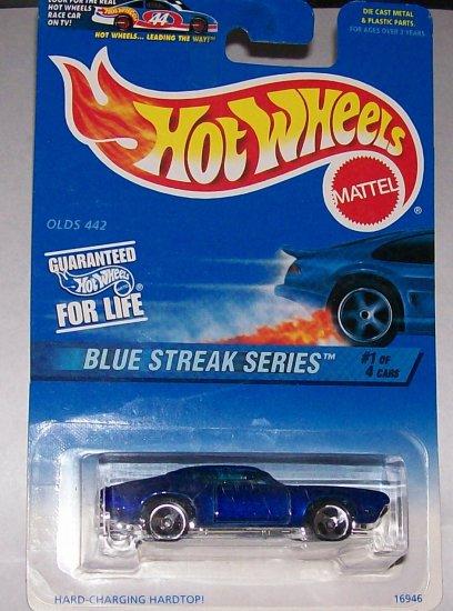 """Hot Wheels BLUE STREAK SERIES """"OLD 442"""" #573"""