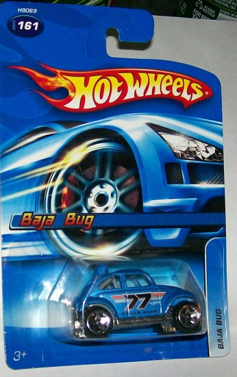 "Hot Wheels 2005 #161 ""BAJA BUG"" BLUE 5 SPOKE"