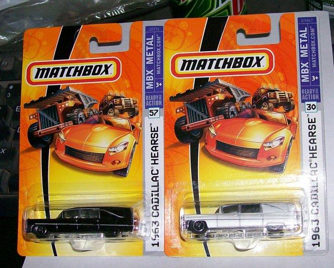 MATCHBOX 2007 MBX METAL #57, #30 1963 HEARSE  1 BLK, & 1 WHITE